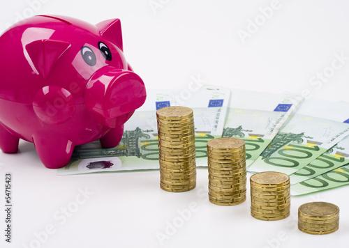 Sparschwein mit Euros