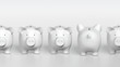 Piggy bank - orthographic raw with one pig from backside