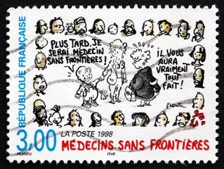 Postage stamp France 1998 Doctors Without Borders