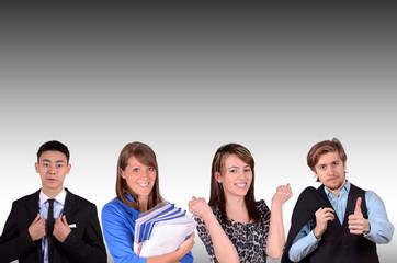 erfolgreiches junges team im büro