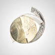 Financial crisis - broken Euro coin