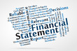 Financial Statement word cloud
