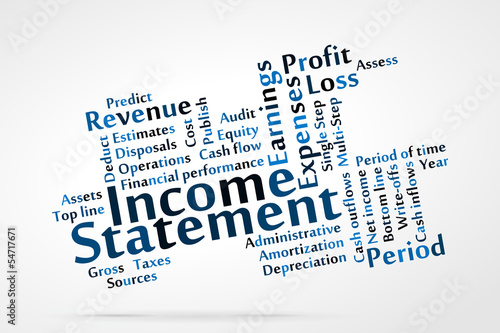 Income Statement word cloud