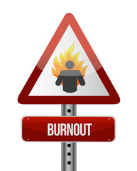 burnout road sign illustration design