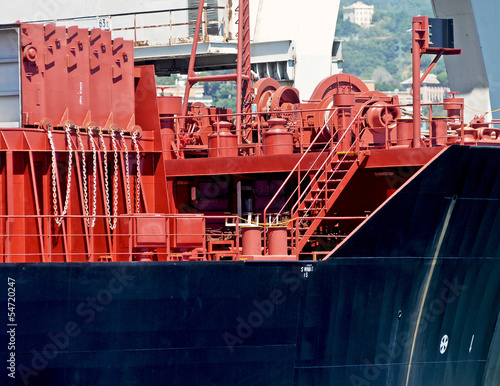 bow of the cargo ship