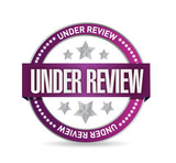 under review seal illustration design