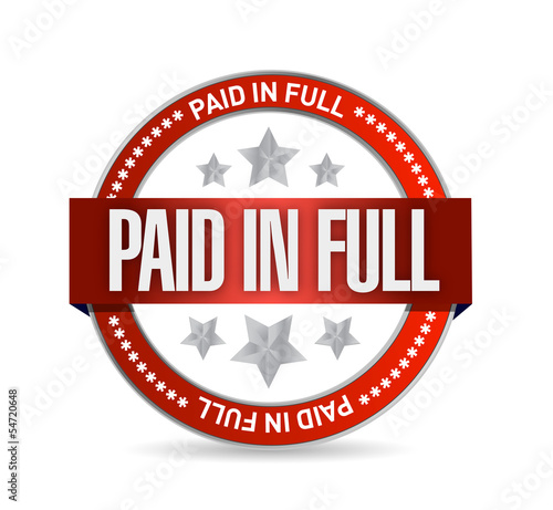 paid in full seal illustration design