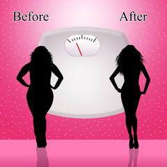 Before ad after diet