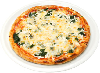 Pizza Popeye the sailor with spinach