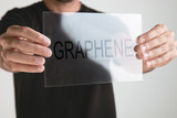 Transparent of graphene application with binary numbers concept.
