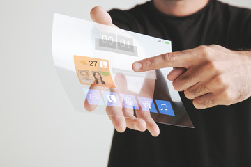 Transparent future tablet made of graphene