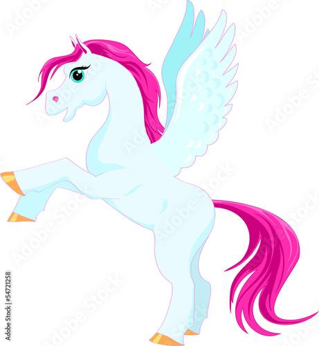 Poster Pony fairytale blue pegasus