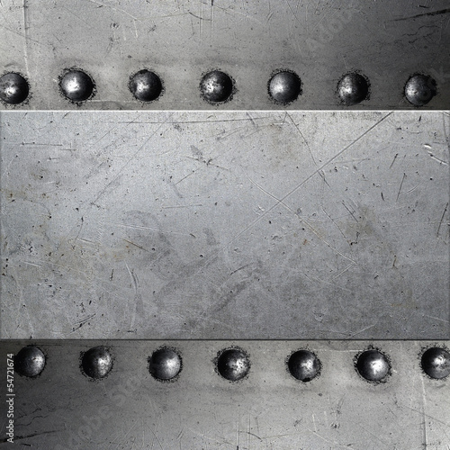 Riveted metal texture