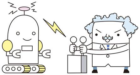 ロボットを操縦するドクター