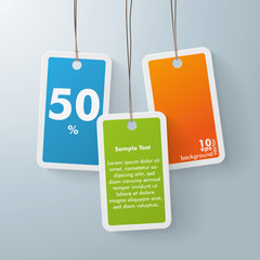 Three colored price sticker