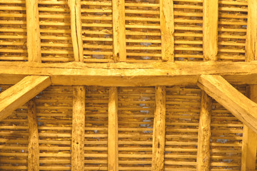 Ancient wooden roof detail