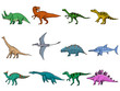 set of different dinosaurs - 54725240