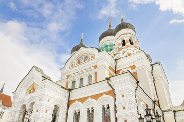 Alexander Nevski orthodox cathedral in Tallinn, Estonia.
