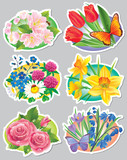 Stickers flowers