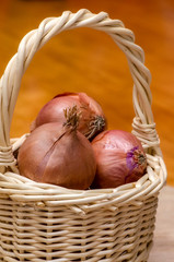 Basket of onions.