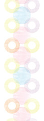 vector colorful textile circles horizontal seamless patter