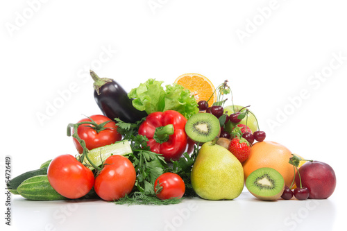 Diet weight loss breakfast concept fruits and vegetables из Dmitry Lobanov, Роялти-фри стоковое фото #54726419 на Fotolia.ru
