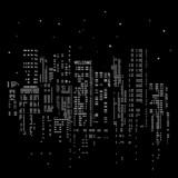 habitation, maison, immeuble, étage, électricité, lumière