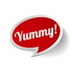 Yummy label or speech bubble