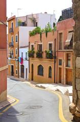 Narrow street in Tarragona