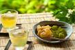 緑茶とわらび餅