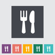 Cutlery single flat icon.
