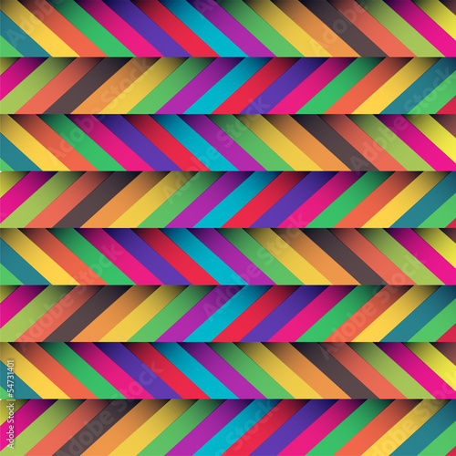 Tuinposter ZigZag beautiful zig zag patterned background with soft retro colors