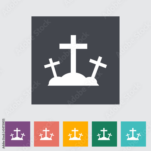 Calvary single flat icon.