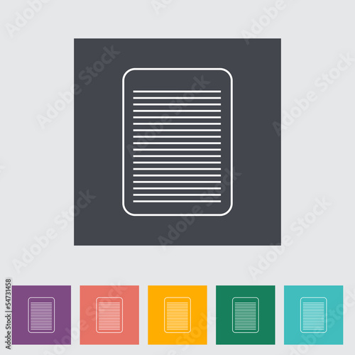 Document single flat icon.