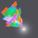abstract high tech design element