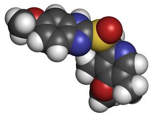Omeprazole dyspepsia and peptic ulcer disease drug.