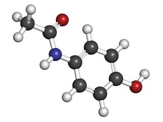 Paracetamol (acetaminophen) pain relief and fever reducing drug