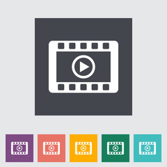 Video flat icon.