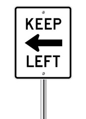 Keep left traffic sign
