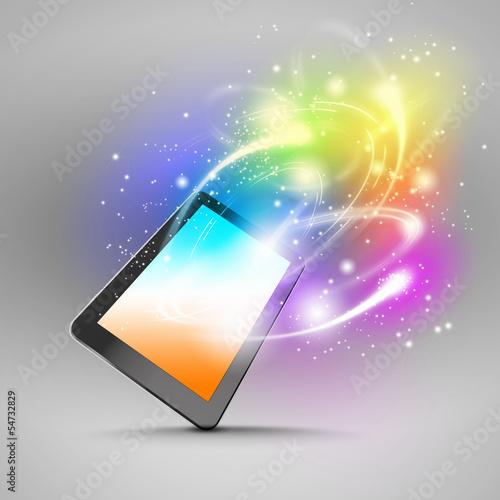 Keuken foto achterwand Vormen Tablet pc