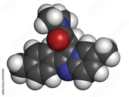 Zolpidem insomnia drug (sleeping pill), chemical structure.