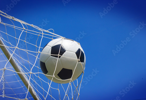 canvas print picture Soccer football field stadium grass line ball background texture