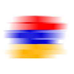 Abstract flag of Armenia on white background
