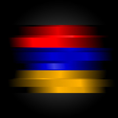 Abstract flag of Armenia on black background