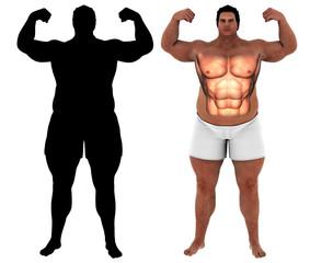 Fat heavy man body transform motivation