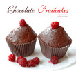 Chocolate fruitcake with raspberry