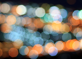 Abstract on a colorful background bokeh effect