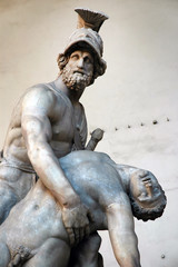 Menelaus supporting the body of Patroclus. Florence, Italy