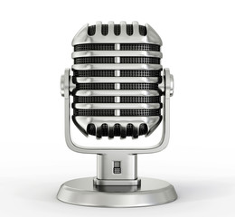 steel microphone
