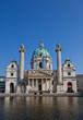 St. Charles Church (Karlskirche, 1737). Vienna, Austria